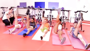 Naughty orgy is going on in this gym and they look aroused and craving