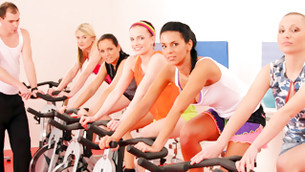 Engaging honey bimbos are riding the bikes and they look all really seductive