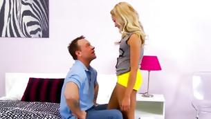 restive couple is having likable retorted sex upside down